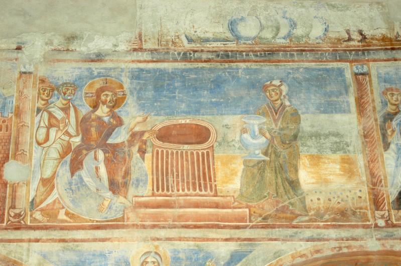 Scuola campana-cassinese sec. XI, Affresco con Cristo e la samaritana al pozzo