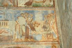 Scuola campana-cassinese sec. XI, Affresco con la lavanda dei piedi