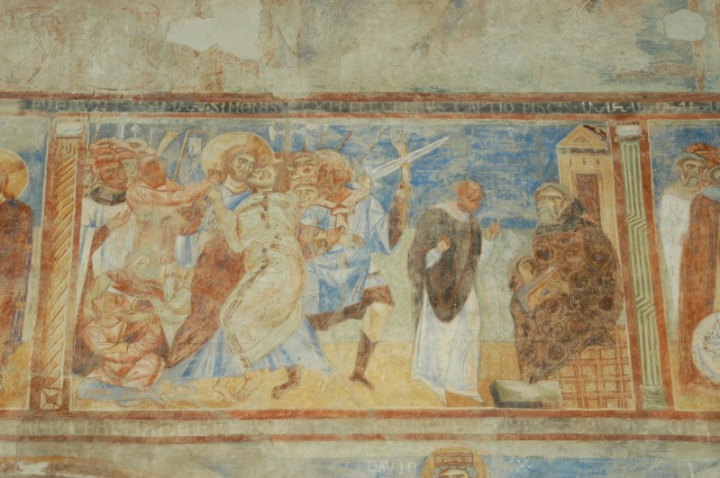 Scuola campana-cassinese sec. XI, Affresco con la cattura di Gesù Cristo