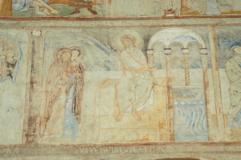 Scuola campana-cassinese sec. XI, Affresco con le Marie al sepolcro