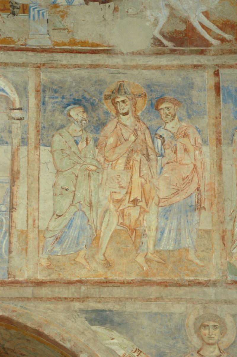 Scuola campana-cassinese sec. XI, Affresco con Cristo che appare a Emmaus