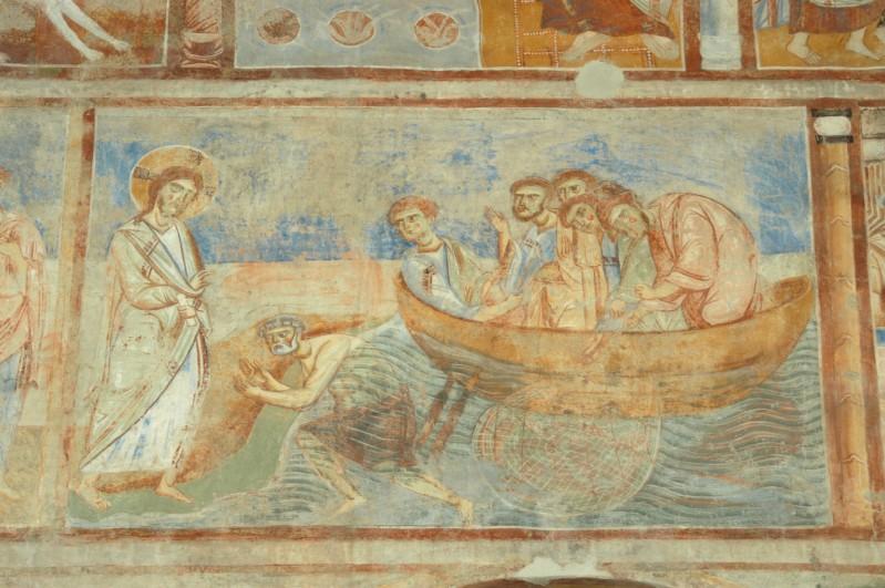 Scuola campana-cassinese sec. XI, Affresco Cristo appare ai discepoli sul lago