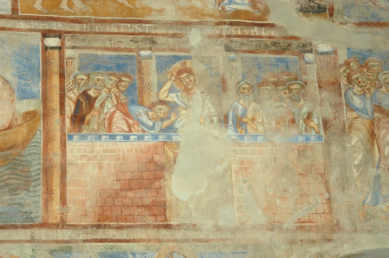 Scuola campana-cassinese sec. XI, Affresco con l'incredulità di S. Tommaso