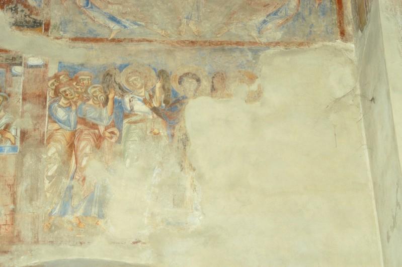 Scuola campana-cassinese sec. XI, Affresco Ascensione Maria tra apostoli