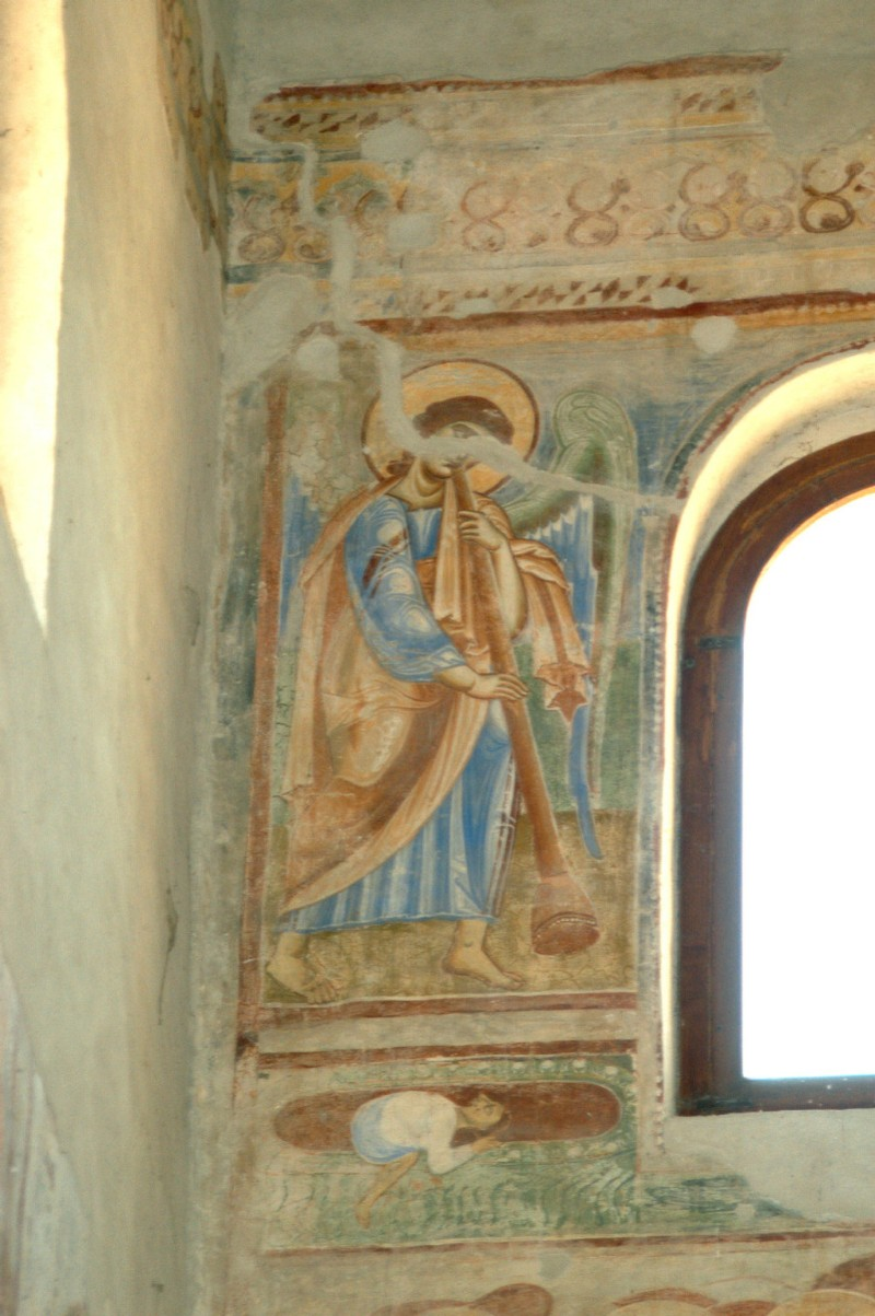 Scuola campana-cassinese sec. XI, Affresco con Angelo musicante 1/4