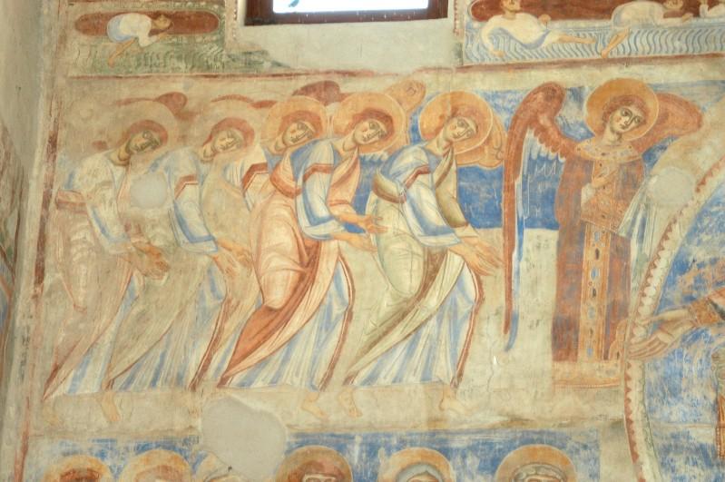 Scuola campana-cassinese sec. XI, Affresco con schiere angeliche 1/2