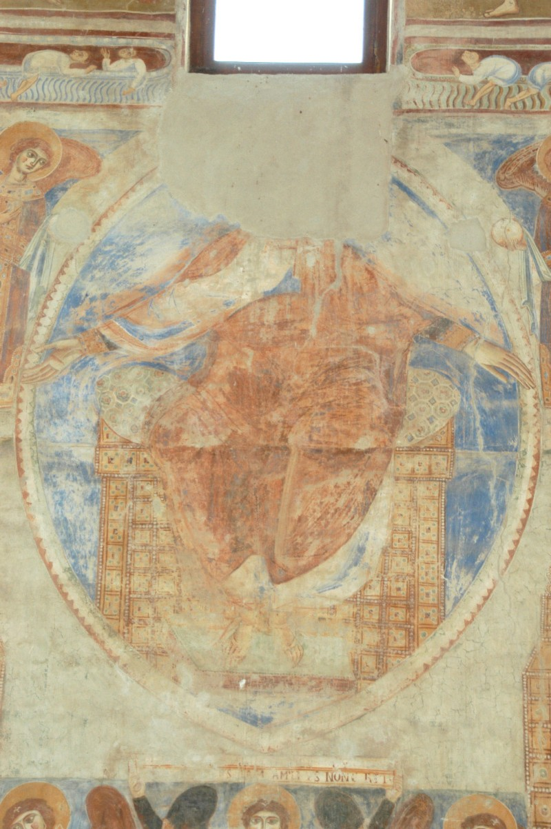 Scuola campana-cassinese sec. XI, Affresco con Gesù Cristo nella mandorla