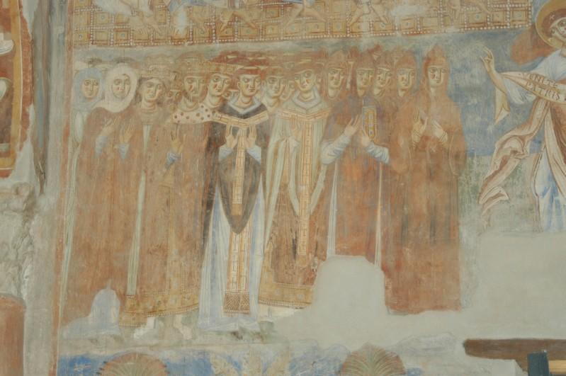 Scuola campana-cassinese sec. XI, Affresco con Beati 1/2