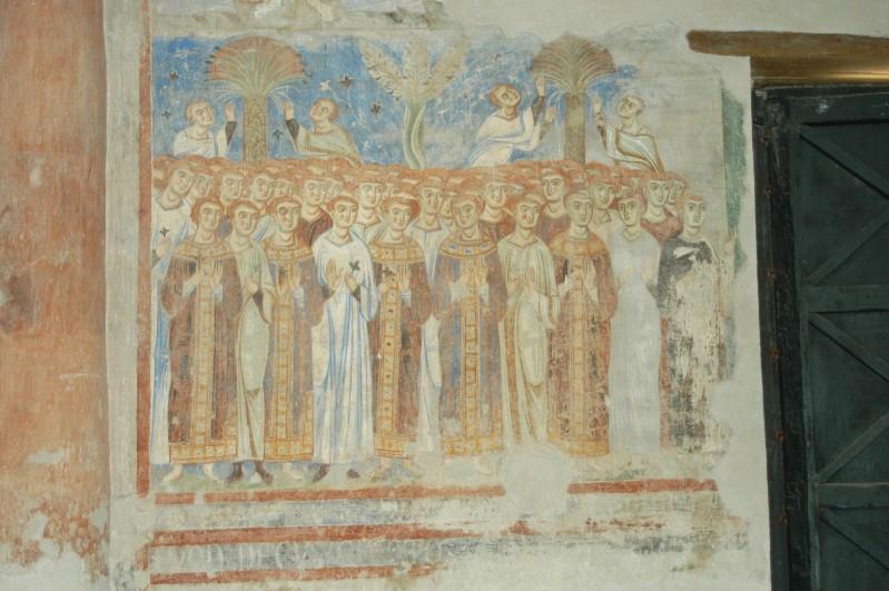 Scuola campana-cassinese sec. XI, Affresco con Beati 2/2
