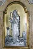 Adani C. sec. XX, Sportello di tabernacolo con Gesù Buon Pastore