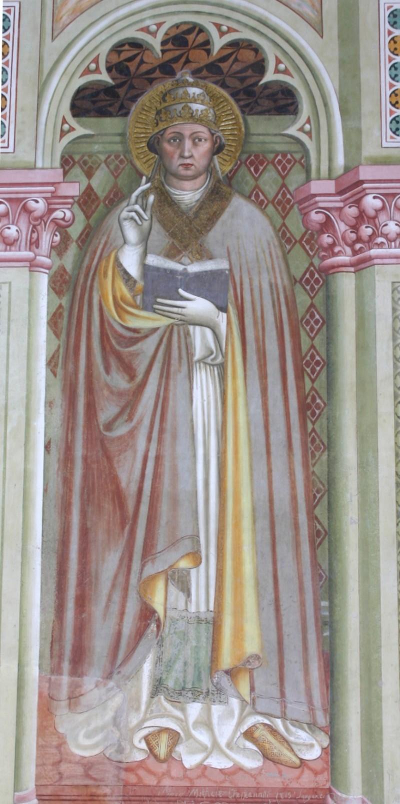 Alberti A. sec. XV, Affresco con S. Gregorio Magno