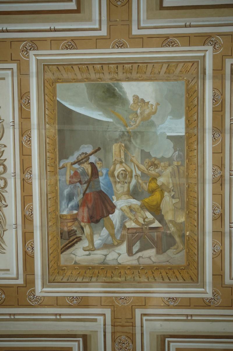 Ambito campano sec. XIX, Dipinto con il martirio di San Ciriaco