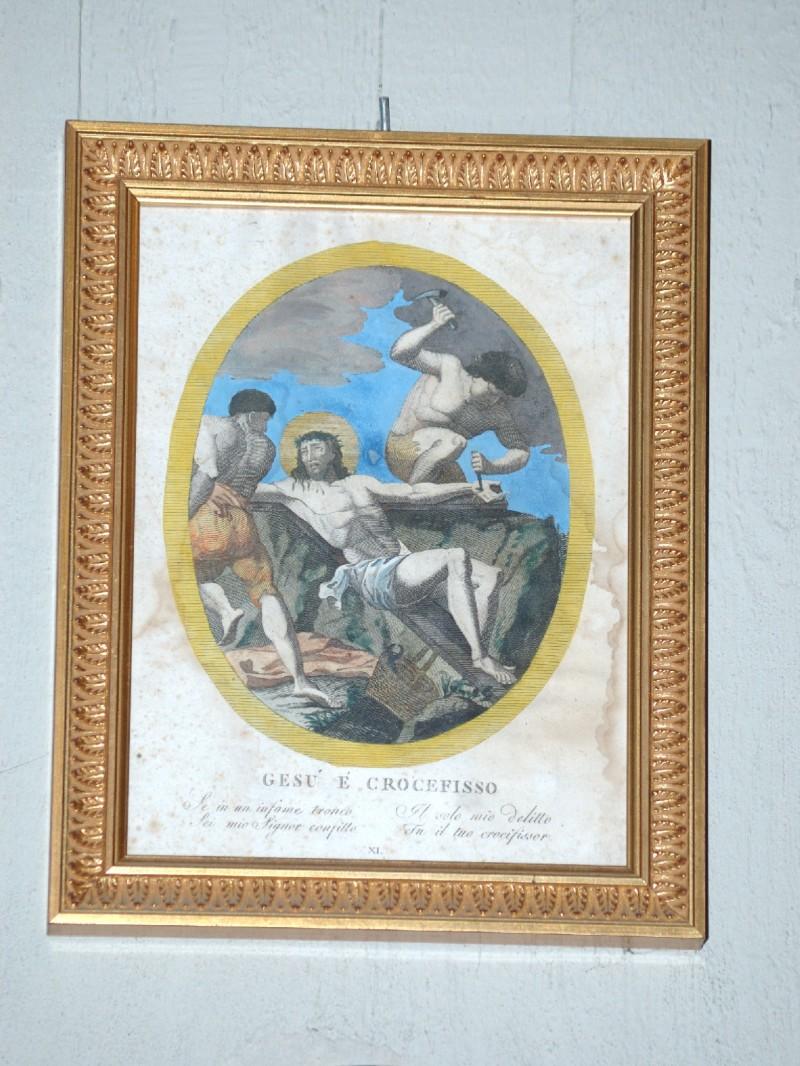 Agricola L.- Lomastro E. T. sec. XIX, Via Crucis con Gesù crocifisso