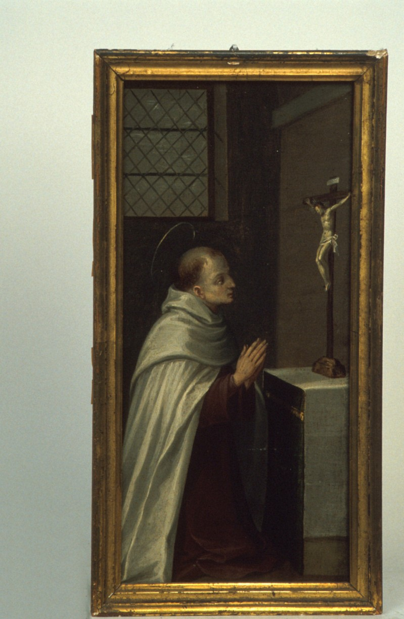 Alberini G. secc. XVI-XVII, Santo carmelitano in preghiera