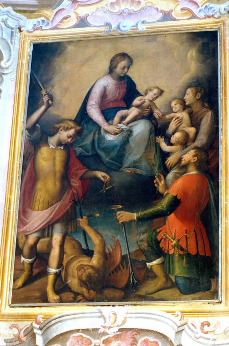 Caccia G. sec. XVII, Madonna con Gesù Bambino e santi