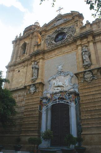 La facciata della cattedrale del  Santissimo  Salvatore a Mazara del Vallo
