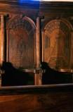 Ambito piemontese sec. XVI, Coro in legno intarsiato