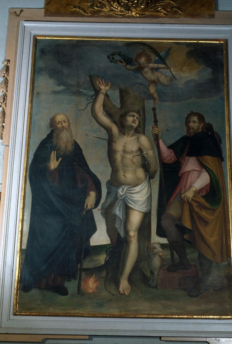 Alberini G. sec. XVII, San Sebastiano con Sant' Antonio abate e San Rocco