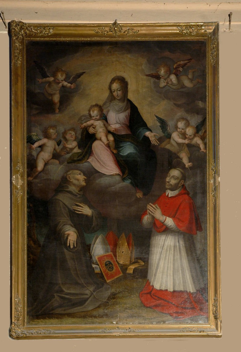 Alberini G. (1610), Madonna col Bambino tra San Bernardino da Siena e San Carlo