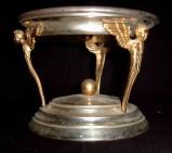 Ambito campano sec. XX, Tronetto in ottone e metallo argentato
