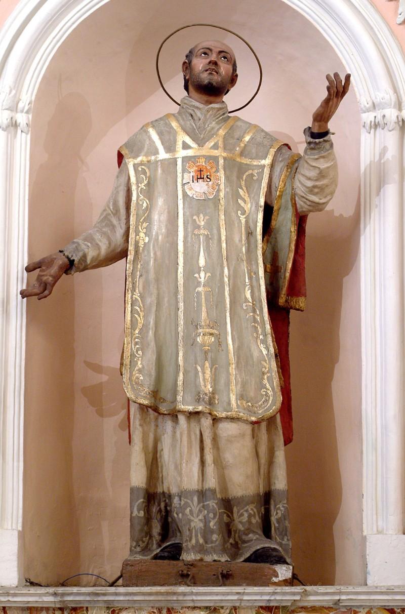 Bottega siciliana secc. XVIII-XIX, Statua di S. Ignazio da Loyola