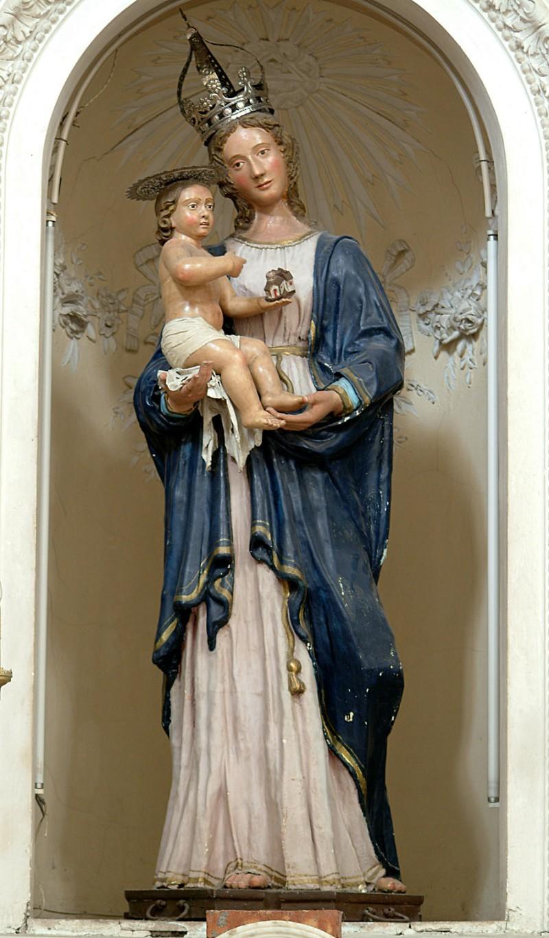 Bottega siciliana secc. XVIII-XIX, Statua della Madonna con Bambino