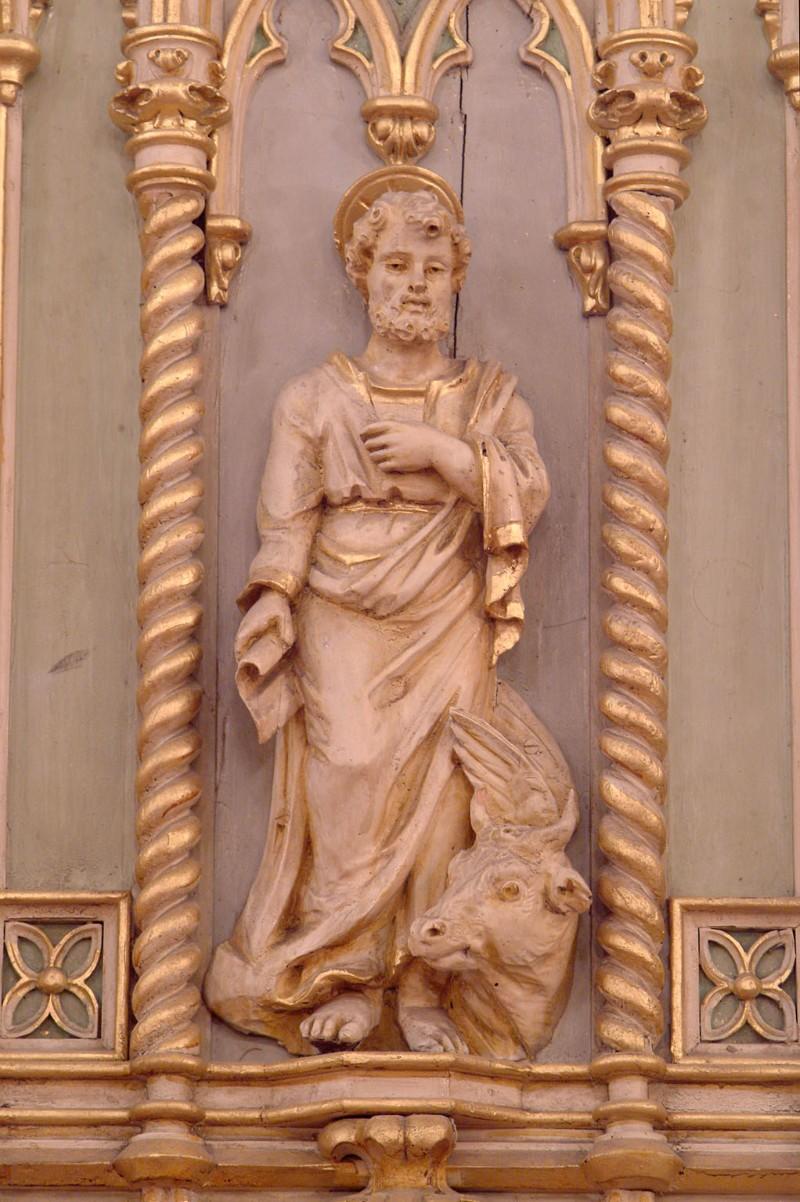 Bottega siciliana secc. XIX-XX, Altorilievo con S. Luca Evangelista