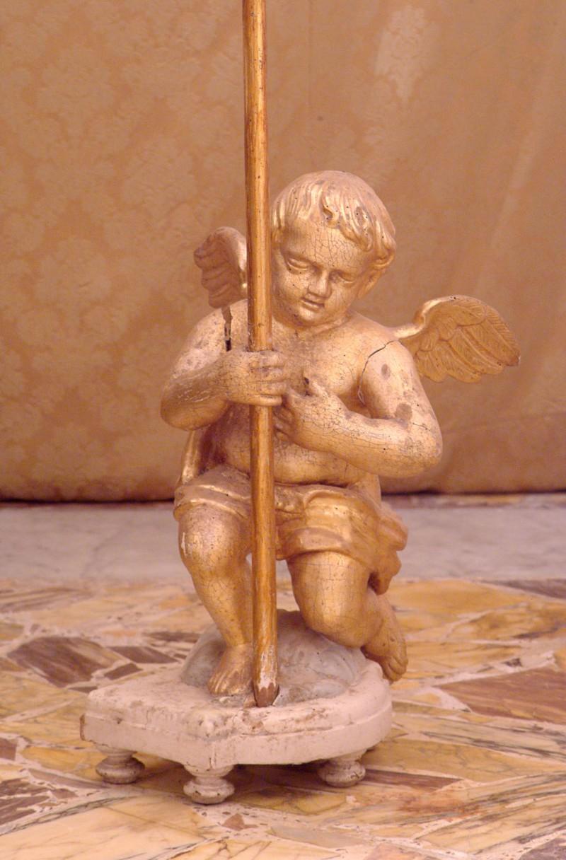 Bottega siciliana secc. XIX-XX, Scultura lignea con Angioletto