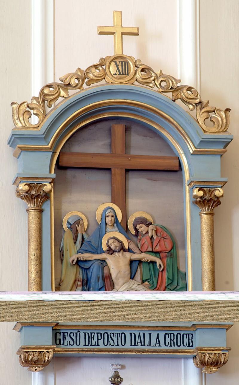 Bottega siciliana sec. XX, Altorilievo con Gesù deposto dalla croce