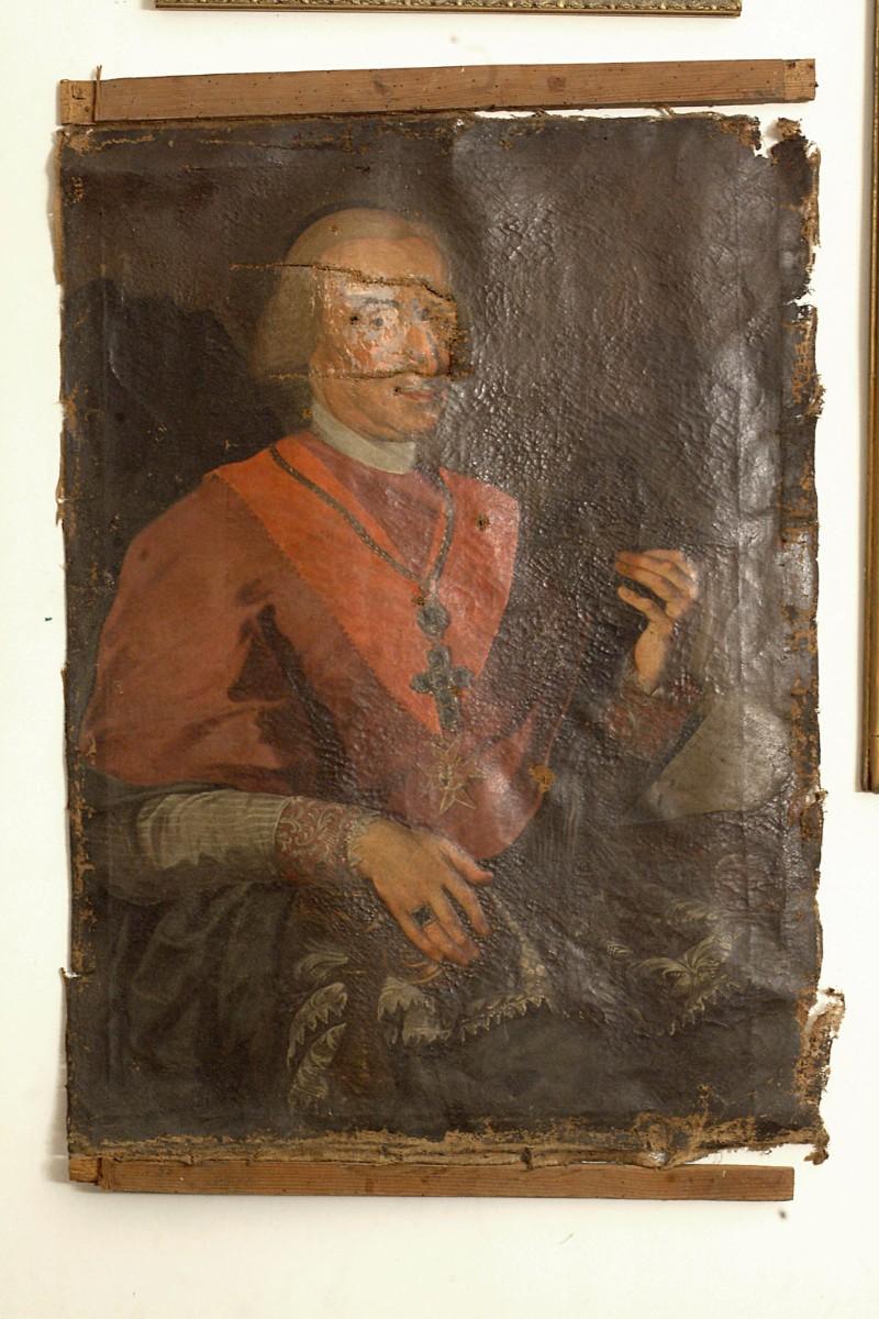 Bottega siciliana sec. XVIII, Ritratto di vescovo