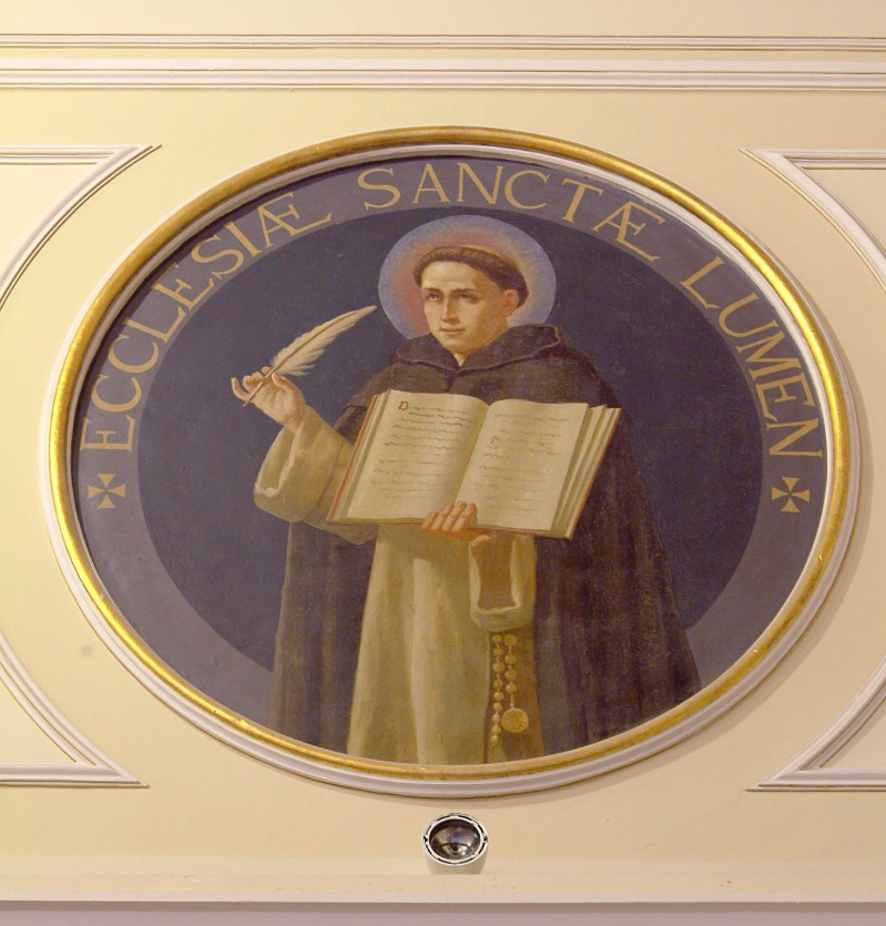 Bottega siciliana sec. XX, Affresco di S. Domenico