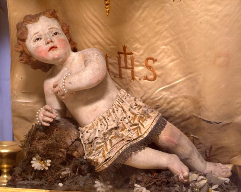 Bottega siciliana secc. XVIII-XIX, Statua in cera di Gesù Bambino