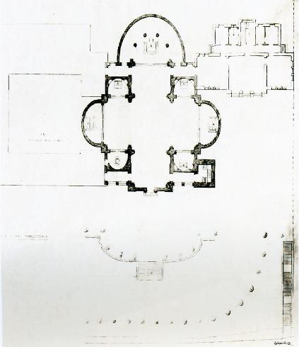 Filippo Sneider. Pianta di progetto della cattedrale