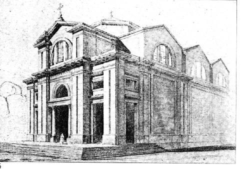 Ing. Giuseppe Astorri. Disegno prospettico della cattedrale