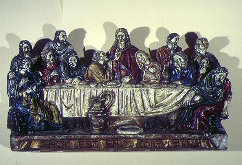 Bottega siciliana secc. XIX-XX, Scultura con Ultima cena