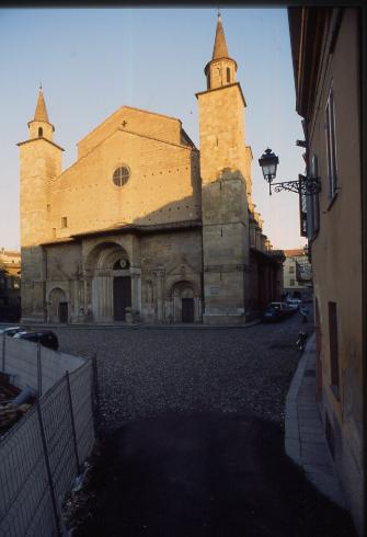La facciata della cattedrale di San Donnino a Fidenza