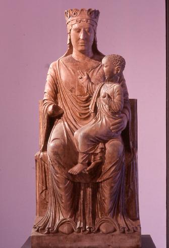 Madonna in Trono con il Bambino di scuola antelamica