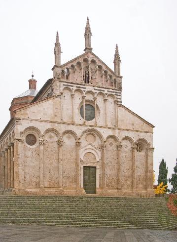 La facciata della cattedrale di San Cerbone a Massa Marittima