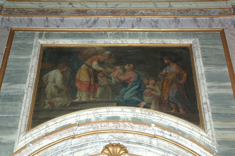 Kuntze T. sec. XVIII, Dipinto murale con presentazione di Gesù al tempio