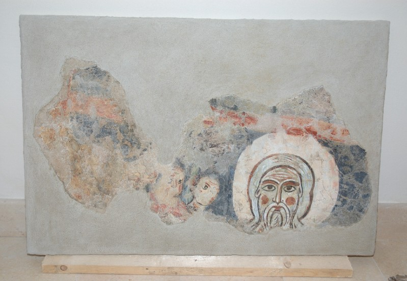 Ambito dell'Italia meridionale sec. XIII, Affresco con Volto Santo