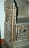 Ambito romano sec. XIII, Montante sinistro di cattedra