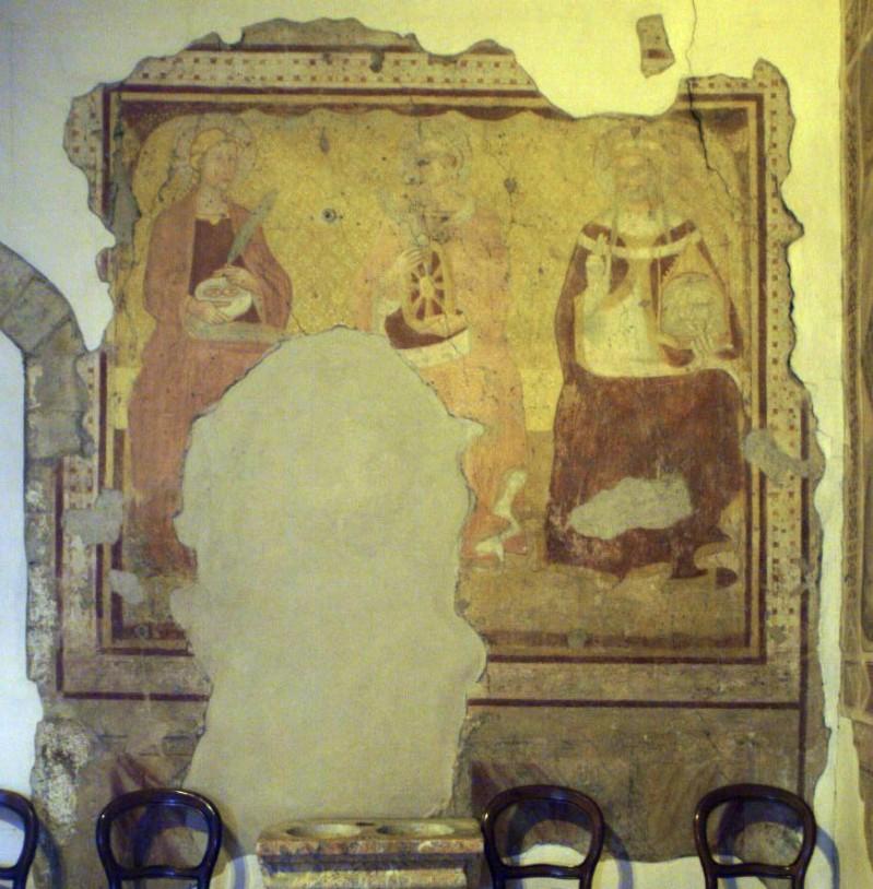 Scuola senese sec. XIV, Santa Lucia, Santa Caterina e Santa Veronica