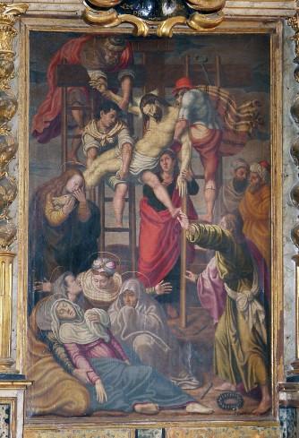 Nucci Virgilio (attr.) fine sec. XVI, Gesù Cristo deposto dalla croce
