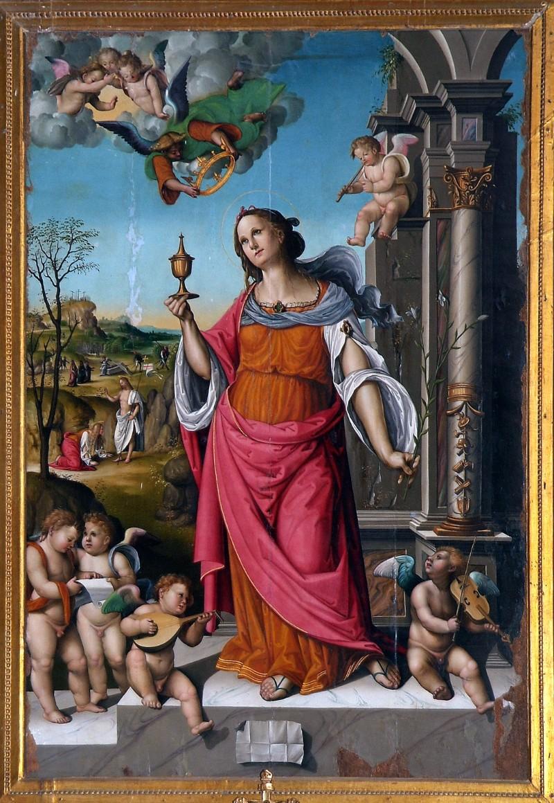 Viti Timoteo (1521), Santa Maria Maddalena e angeli musicanti