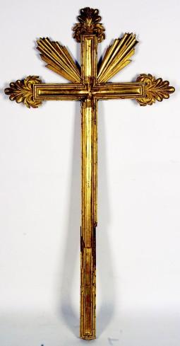 Ambito umbro fine sec. XVIII, Croce in legno con terminazioni a palmetta