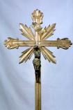 Bott. marchigiana sec. XIX, Croce di croce da altare argentata