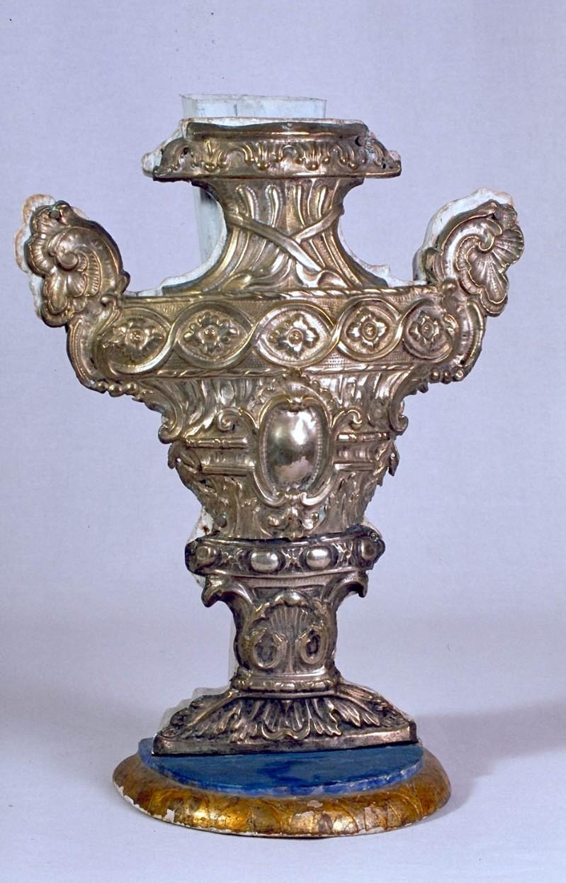 Bott. marchigiana sec. XVIII-XIX, Vaso portapalma in argento 1/6