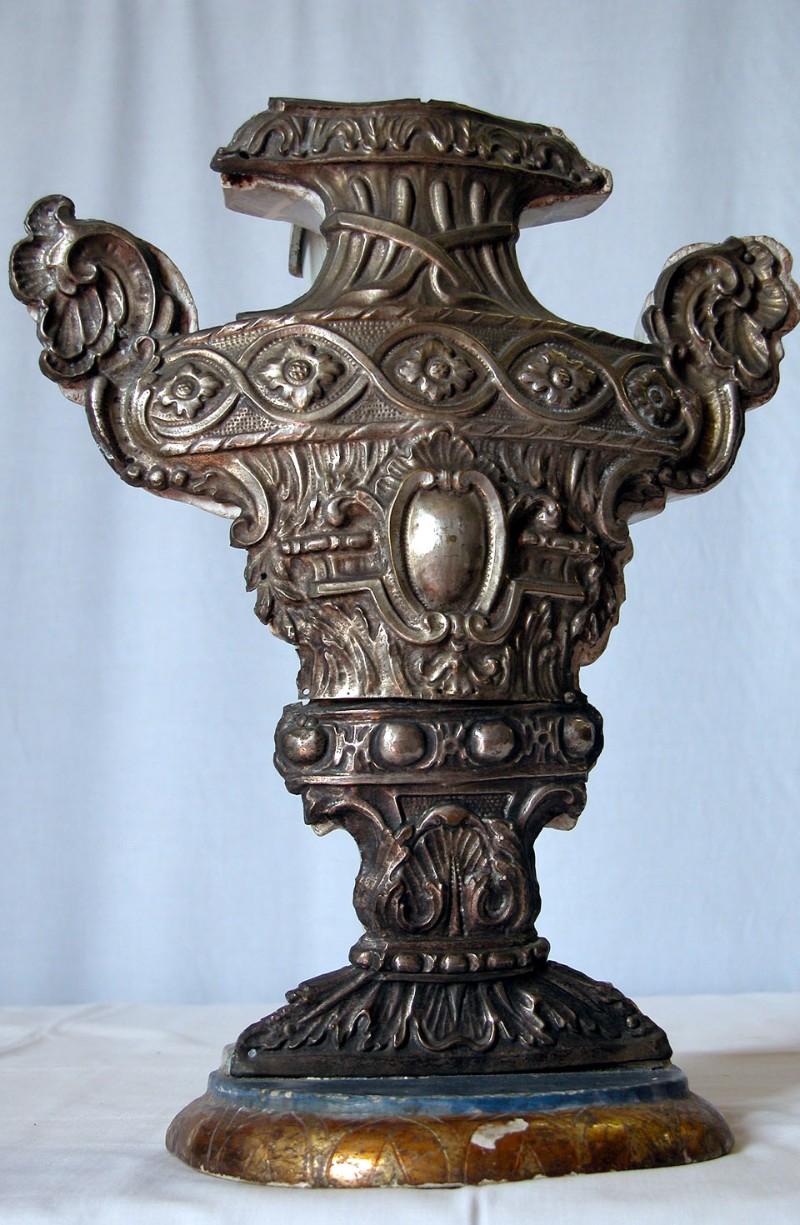Bott. marchigiana sec. XVIII-XIX, Vaso portapalma in argento 2/6