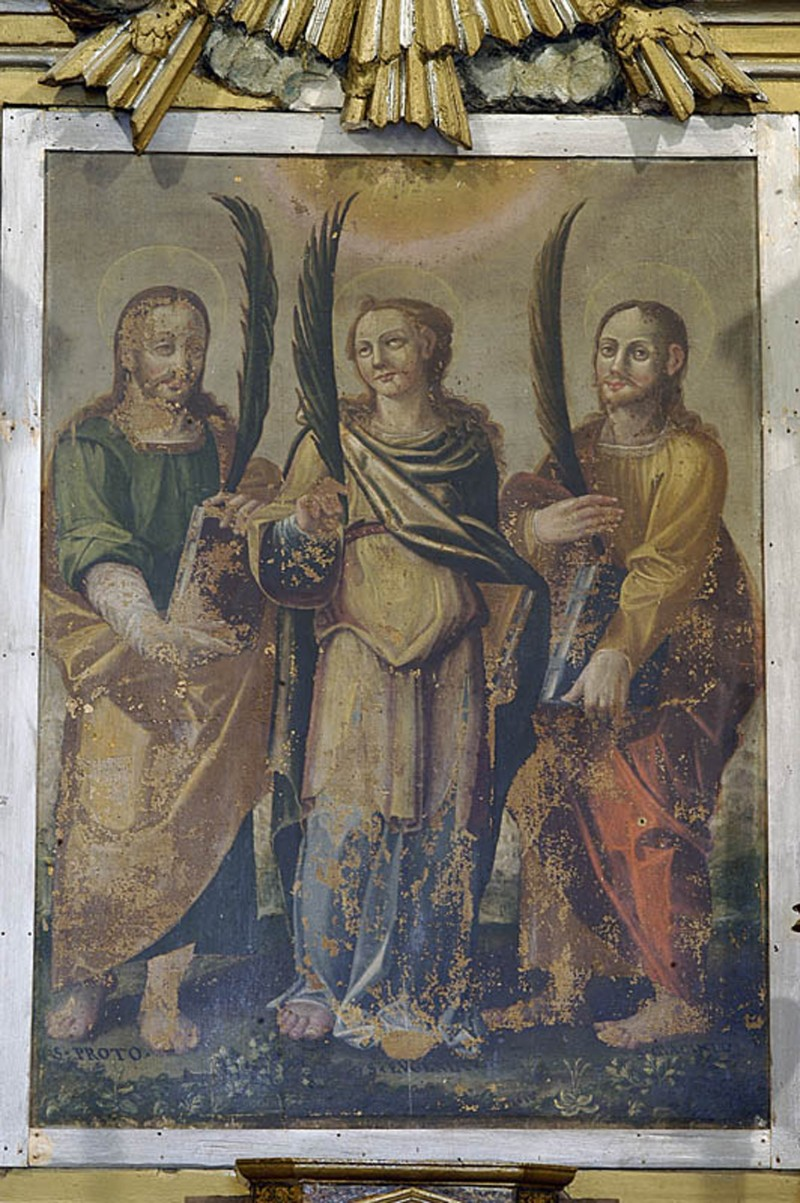 Ambito abruzzese (1610), Sant'Eugenia tra i santi Proto e Giacinto