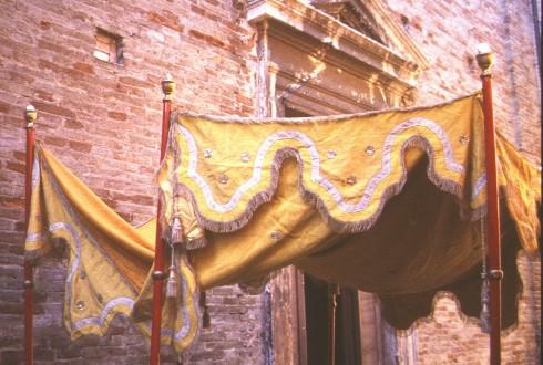 Ambito marchigiano sec. XIX, Baldacchino processionale